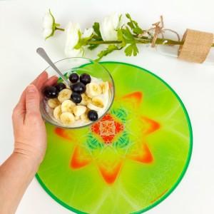 Round Energising Plate Mandala of Health