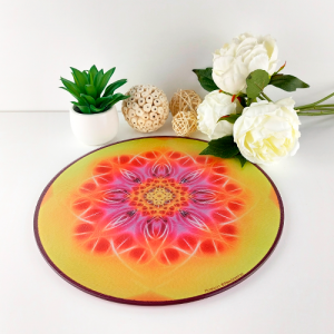 Round Energising Plate Mandala of Flowering