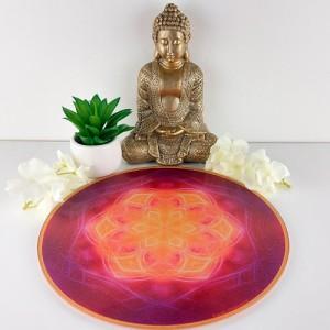 Round Energising Plate Mandala of Wisdom