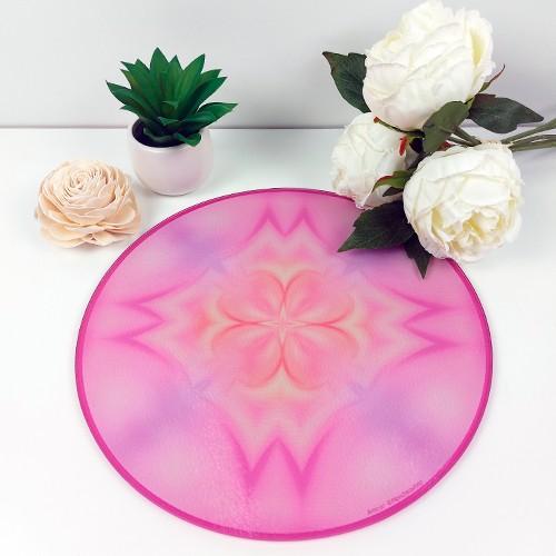 Round Energising Plate Mandala of Love