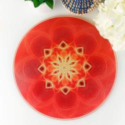Round Energising Plate Mandala of Prosperity
