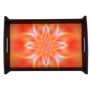 Serving Tray Mandala that allows you to turn the inner light