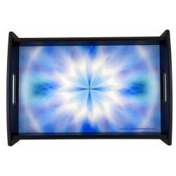 Serving Tray Mandala of the peace of mind that radiates its energy into the heart