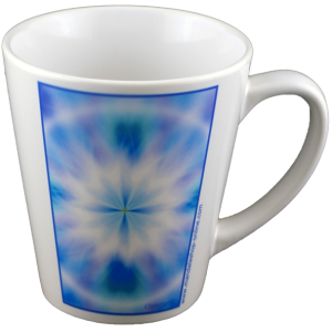 Conica cup Mandala of the peace of mind that radiates its energy into the heart