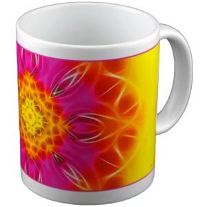 Mug panoramique Mandala de la Floraison