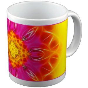 Panoramic mug Mandala of Blossoming