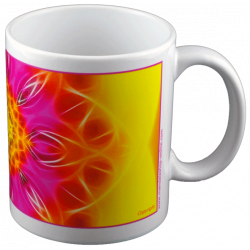 Panoramic mug Mandala of Blossoming