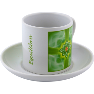 Tasse à thé Mandala de l'Équilibre