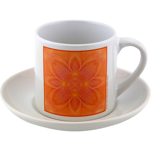Tea cup Mandala of Gentleness