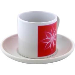 Tea cup Mandala for a joyful and fulfilled life