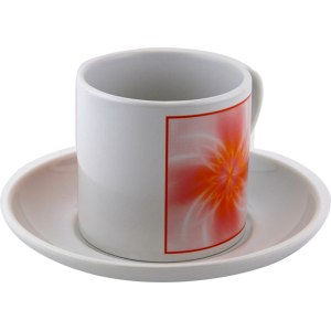 Tea cup Mandala of balance in the couple