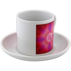 Tea cup mandala of the inner joy that generates abundance