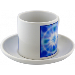 Tea cup Mandala of the peace of mind that radiates its energy into the heart