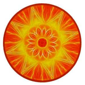 Tapis de souris rond Mandala de l'Abondance