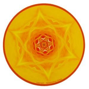 Tapis de souris rond Mandala de l'Inspiration