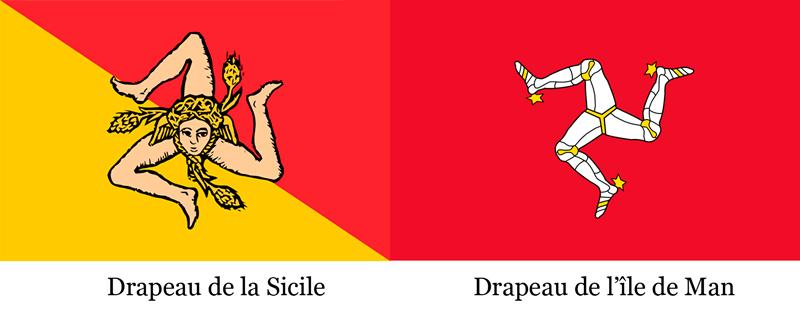 Drapeaux avec le triskel