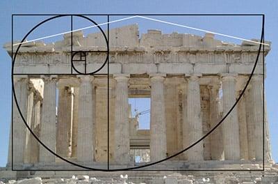Le Parthénon et le nombre d'or