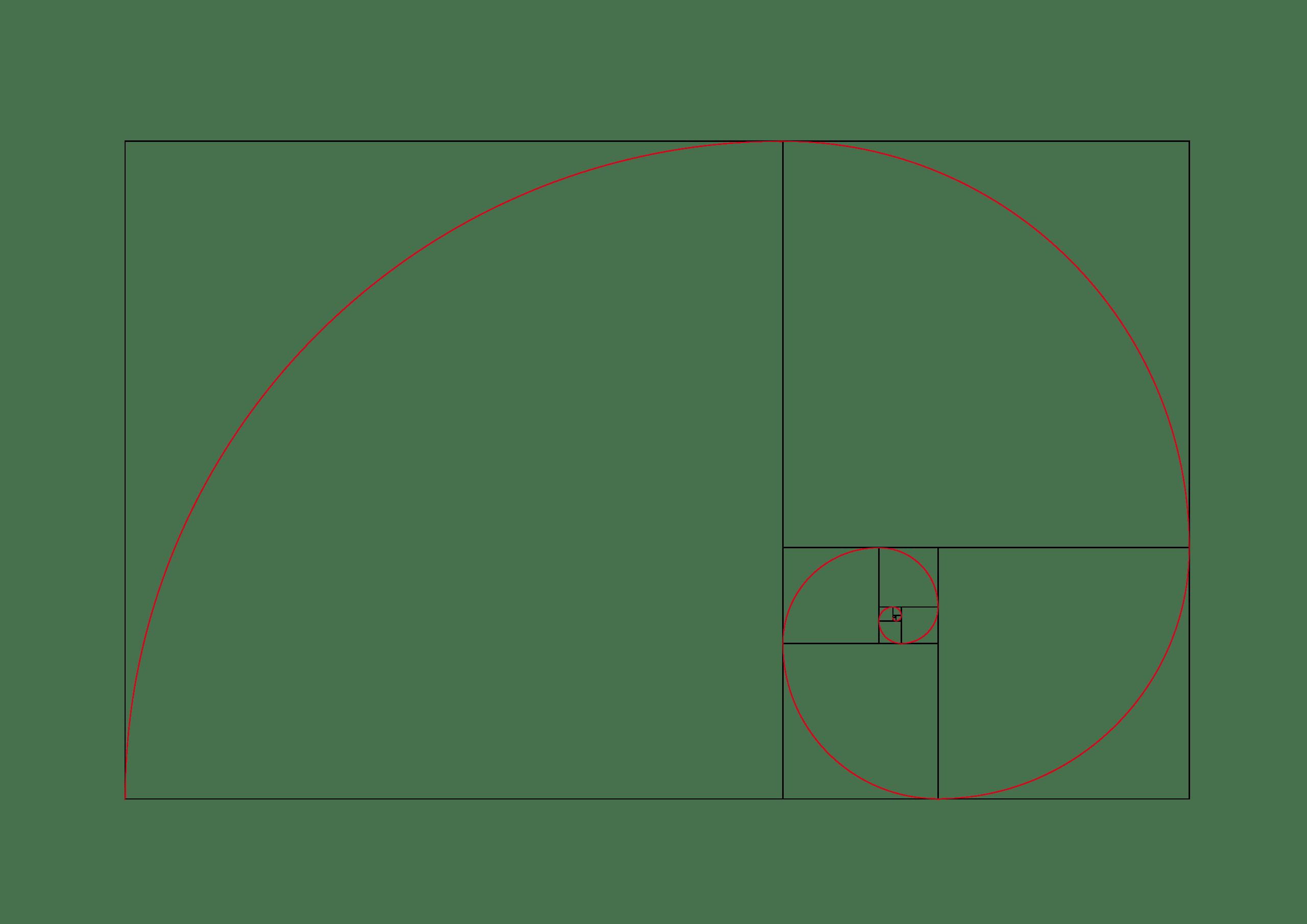 spirale d'or de Fibonacci